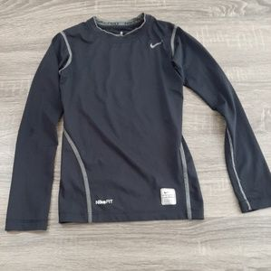 Boys black long sleeve fitted Nike Fit size s(8)